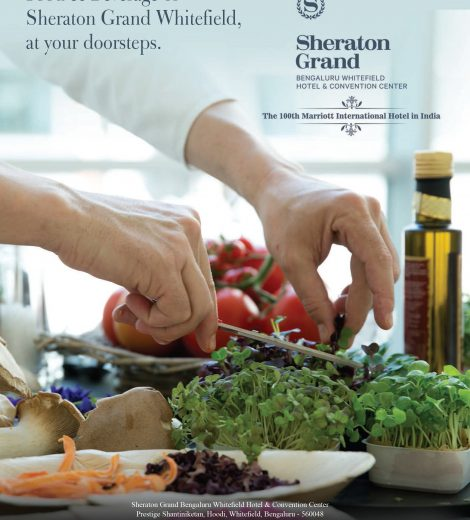 Food & Beverage of Sheraton Grand Whitefield, at your doorsteps.